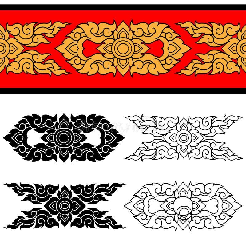 Linie thailändisches Design 025 stockfoto