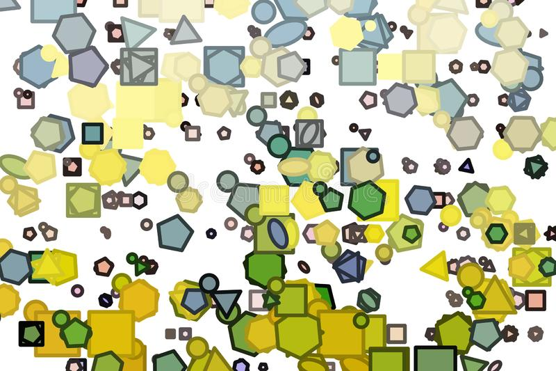 Linien- oder Formillustrationshintergrundzusammenfassung, künstlerische Beschaffenheit Abdeckung, generatives, digitales u. Tapet vektor abbildung