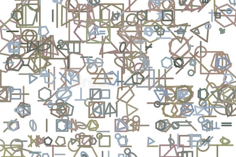 Linien- oder Formillustrationshintergrundzusammenfassung, künstlerische Beschaffenheit Design, Segeltuch, unordentliches u. Art vektor abbildung