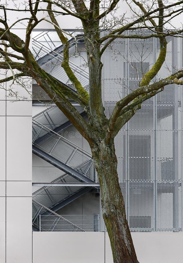 Linien und Formen einer modernen Stadt als Hintergrund lizenzfreies stockfoto