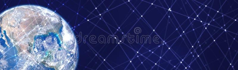 Linien- und Punktmusterraumhintergrund Elemente dieses Bildes geliefert von der NASA lizenzfreie stockfotos