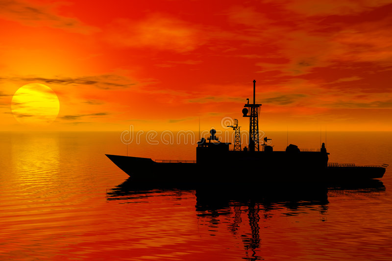 Linienschiff lizenzfreie abbildung