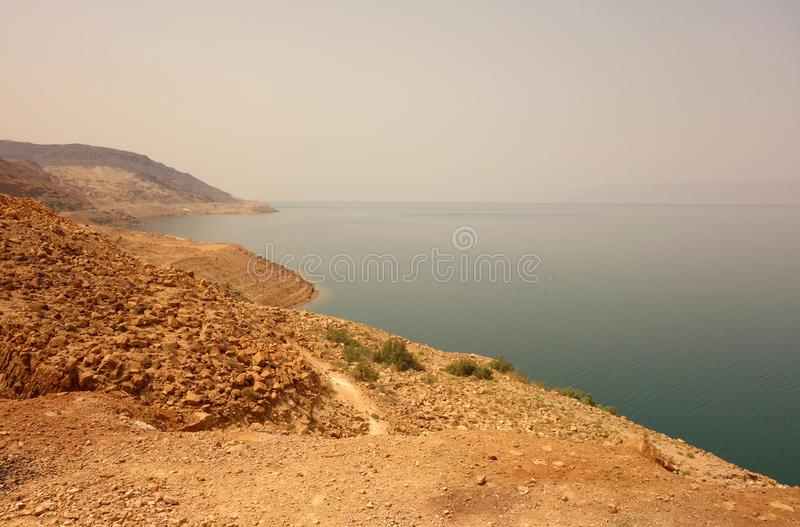 Linii brzegowej Czerwony morze Jordania fotografia royalty free