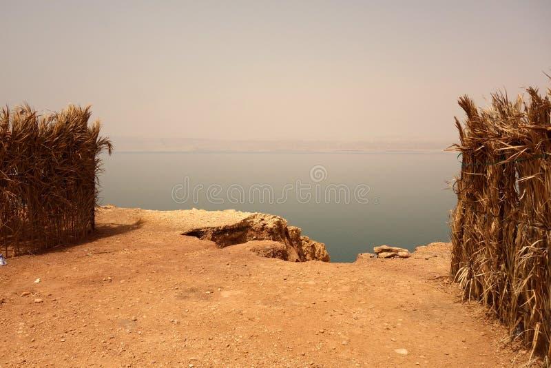 Linii brzegowej Czerwony morze Jordania obrazy royalty free