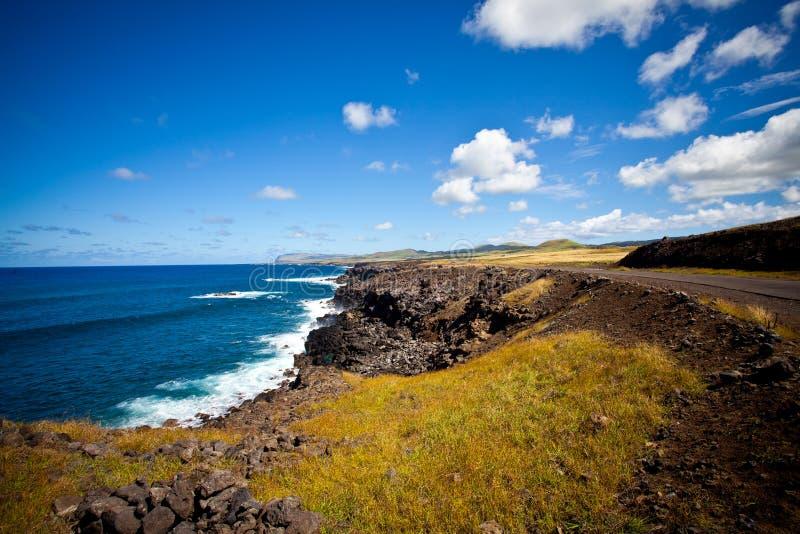 linii brzegowej Easter wyspa obrazy stock
