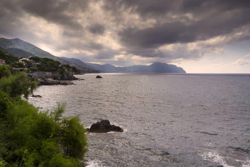 linii brzegowej Genova nervi zdjęcie stock