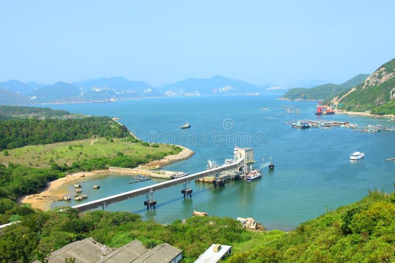 linii brzegowej Hong kong góry granie fotografia royalty free