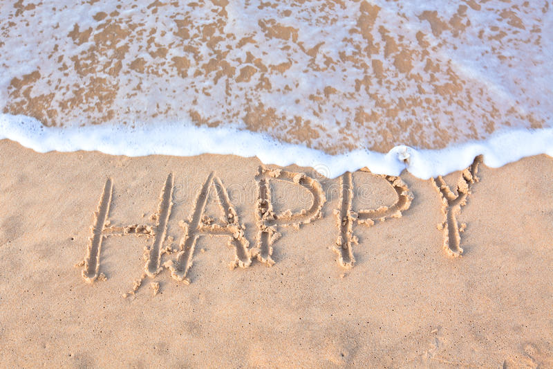 linii brzegowej krawędzi szczęśliwy słowo pisać obrazy royalty free