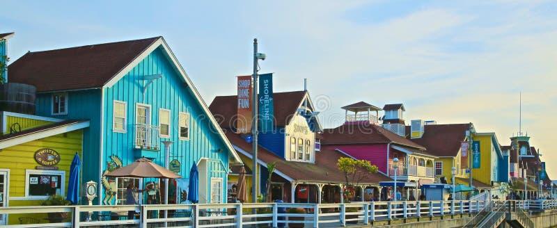 Linii brzegowej wioska Long Beach zdjęcia stock