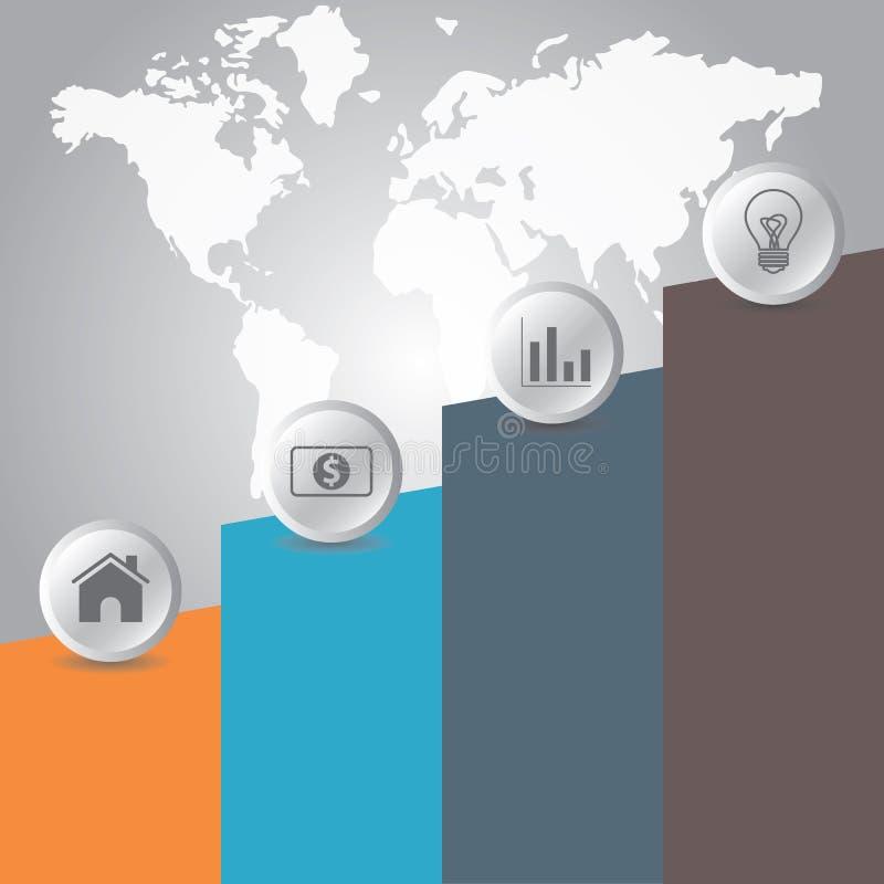 Linii czasu biznesowy infographic z wektorowymi ikonami ilustracja wektor