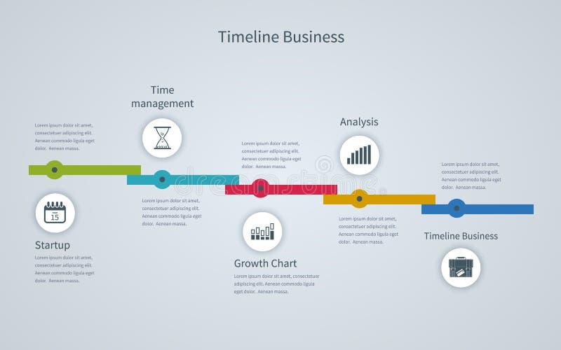 Linii czasu Infographic biznes z diagramami royalty ilustracja