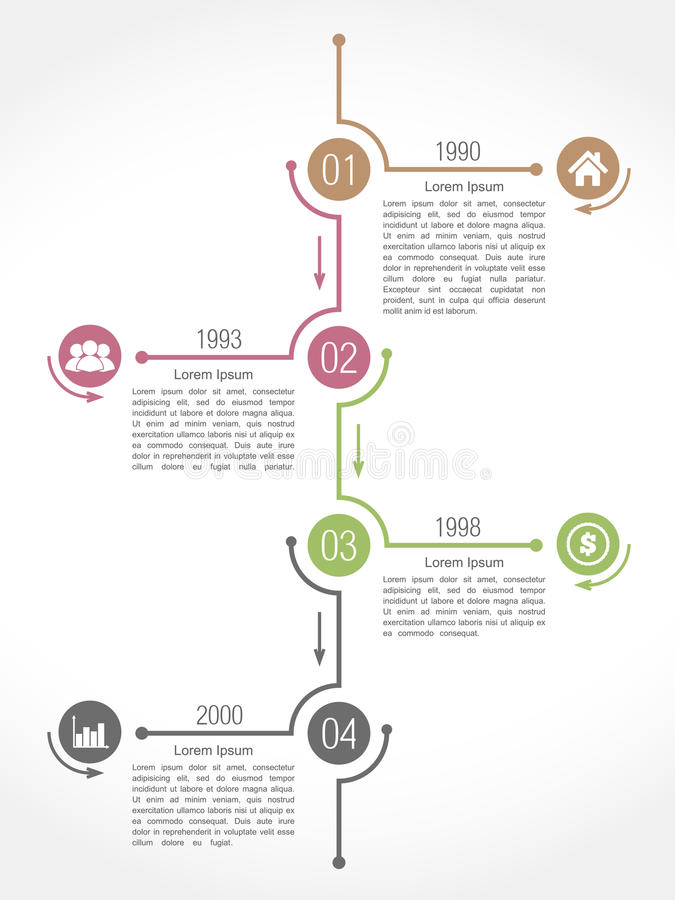Linii czasu Infographics projekta szablon ilustracja wektor