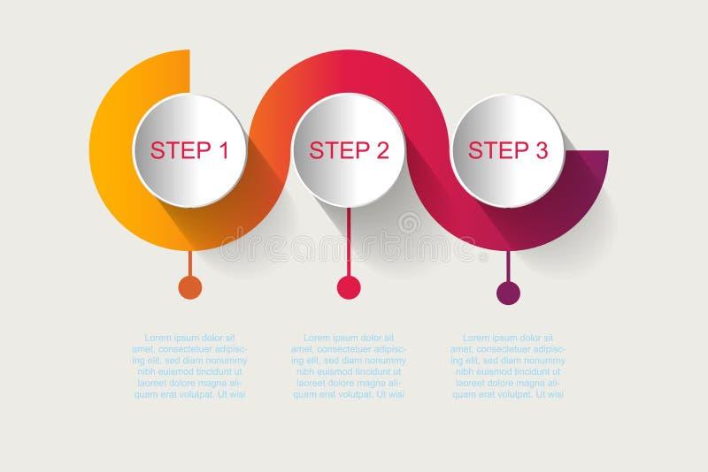 Linii czasu infographics projekta wektor i marketingowe ikony możemy być u ilustracja wektor