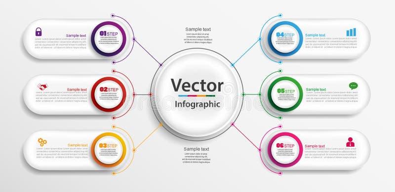Linii czasu infographics projekta wektor i marketingowe ikony możemy używać dla obieg układu, diagram, sprawozdanie roczne, sieć  ilustracji