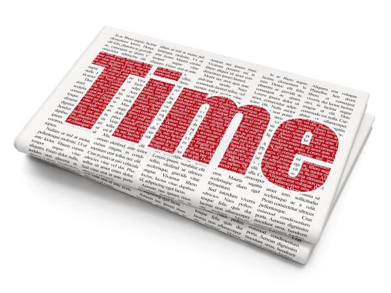 Linii czasu pojęcie: Czas na Gazetowym tle royalty ilustracja