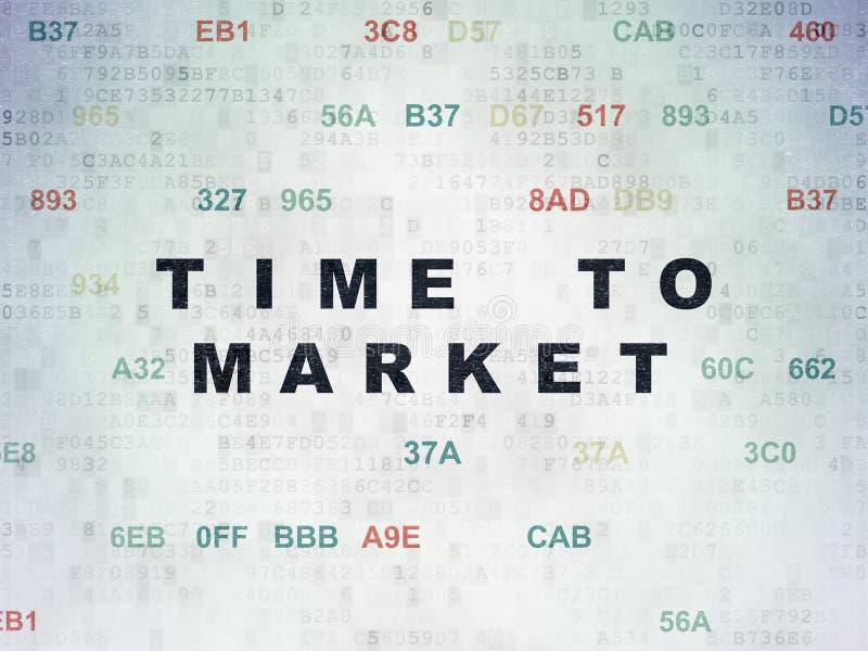 Linii czasu pojęcie: Czas rynek na Cyfrowych dane Tapetuje tło royalty ilustracja