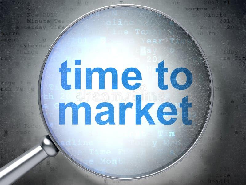 Linii czasu pojęcie: Czas rynek z okulistycznym szkłem ilustracji