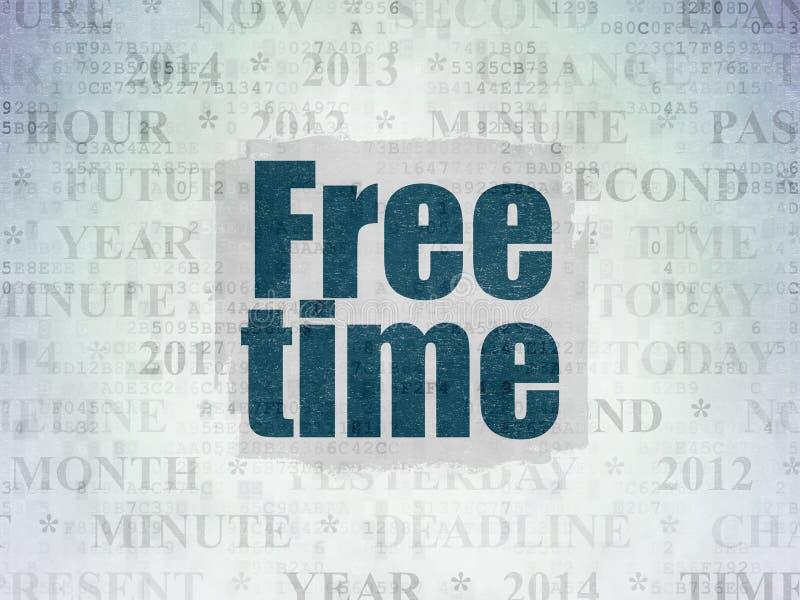 Linii czasu pojęcie: Czas Wolny na Cyfrowych dane papieru tle ilustracji