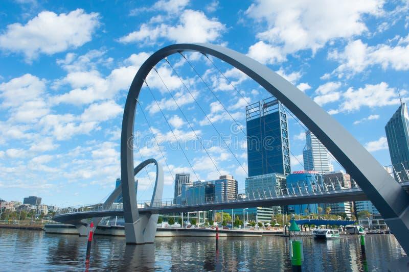 Linii horyzontu Perth zachodnia australia od Elizabeth Quay fotografia royalty free