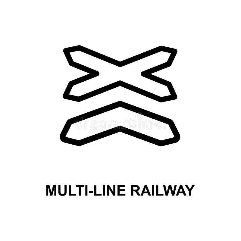 linii kolei ikona Element kolej podpisuje dla mobilnych pojęcia i sieci apps Szczegółowej linii kolejowa ikona może być używać fo ilustracja wektor