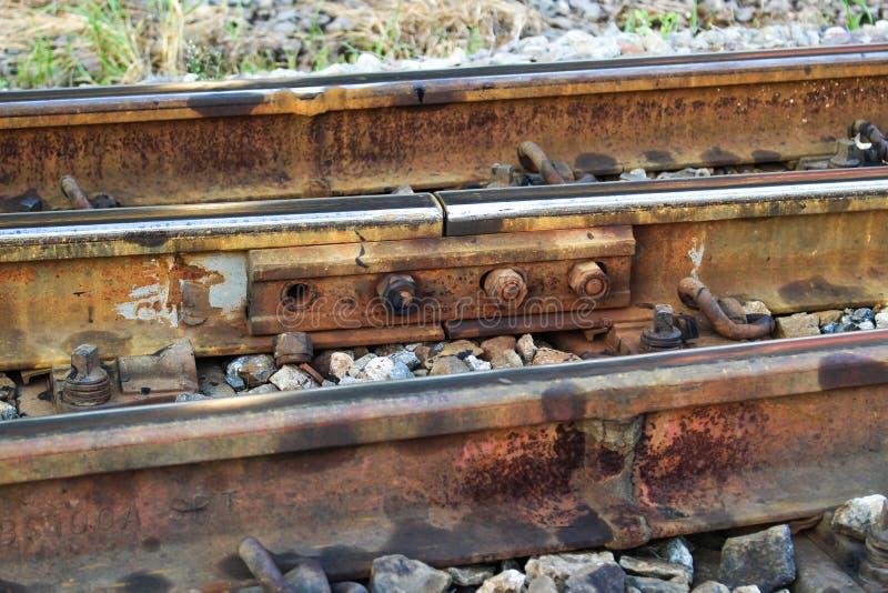 Linii kolejowej i hex dokrętka obrazy royalty free