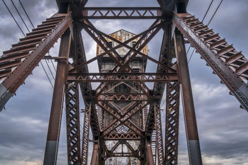Linii kolejowej Katy most przy Boonville obrazy stock