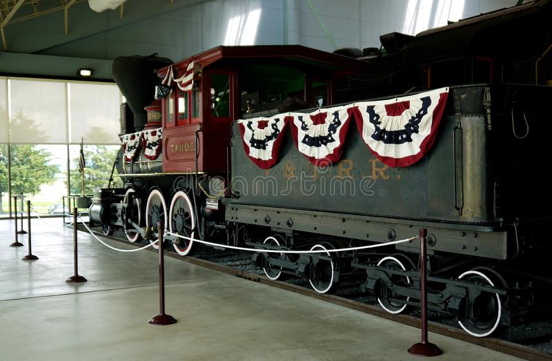 Linii kolejowej muzeum Pennsylwania, Strasburg, Pennsylwania, usa obraz royalty free