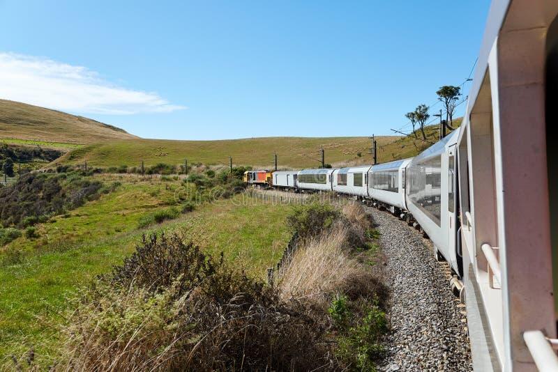 Linii kolejowej podróży widok fotografia royalty free