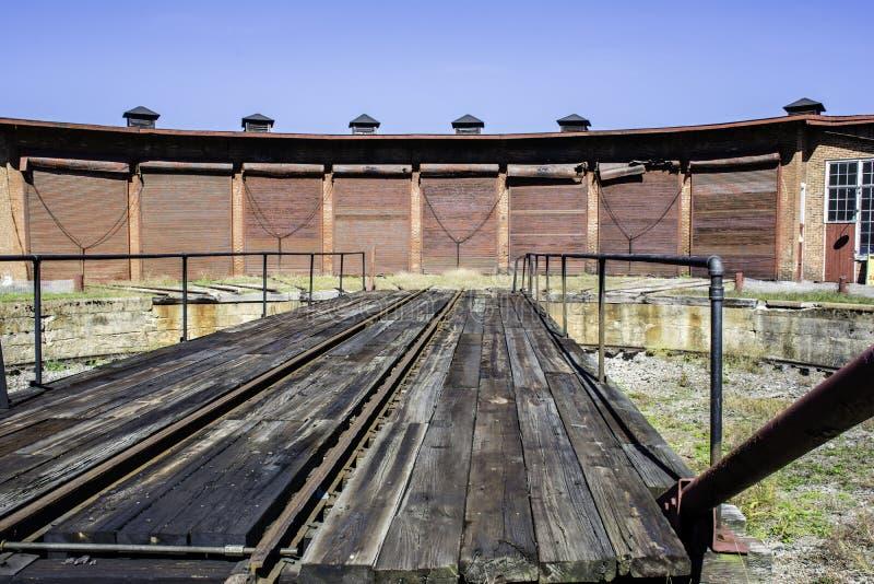 Linii kolejowej Roundhouse obrazy royalty free