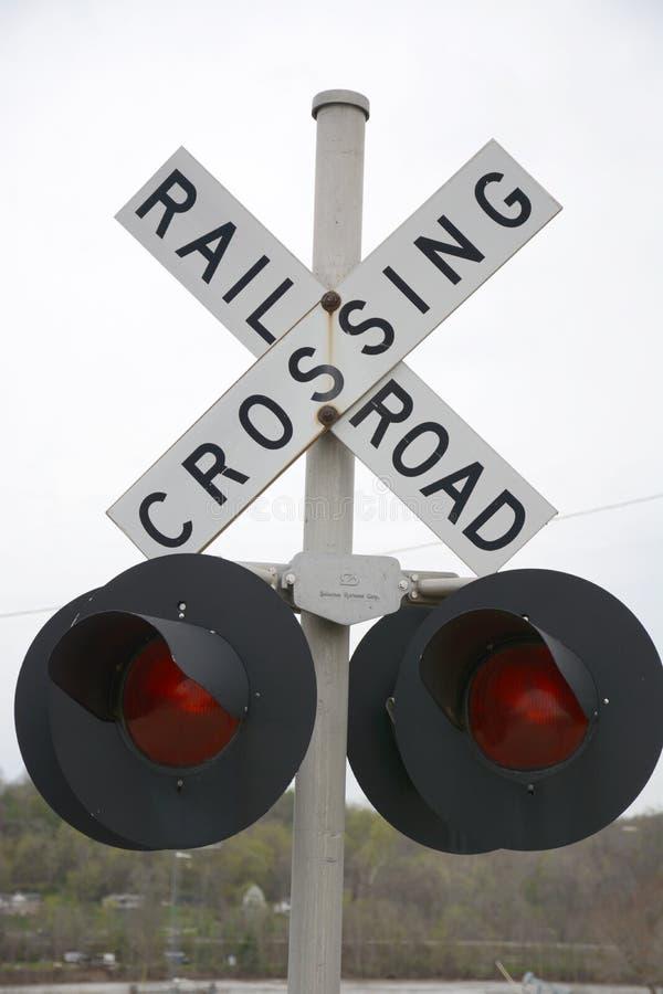Linii kolejowej skrzyżowanie zdjęcie stock