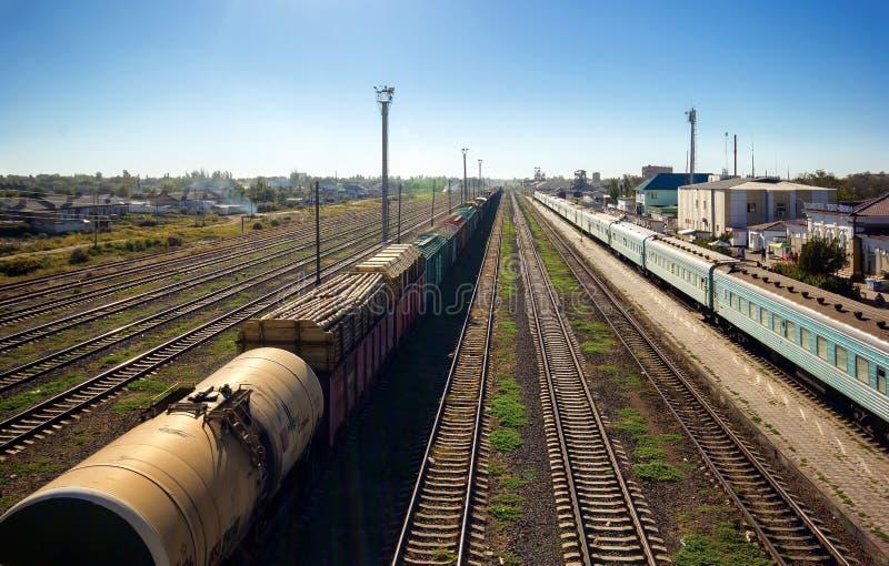 Linii kolejowej stacja zdjęcie royalty free