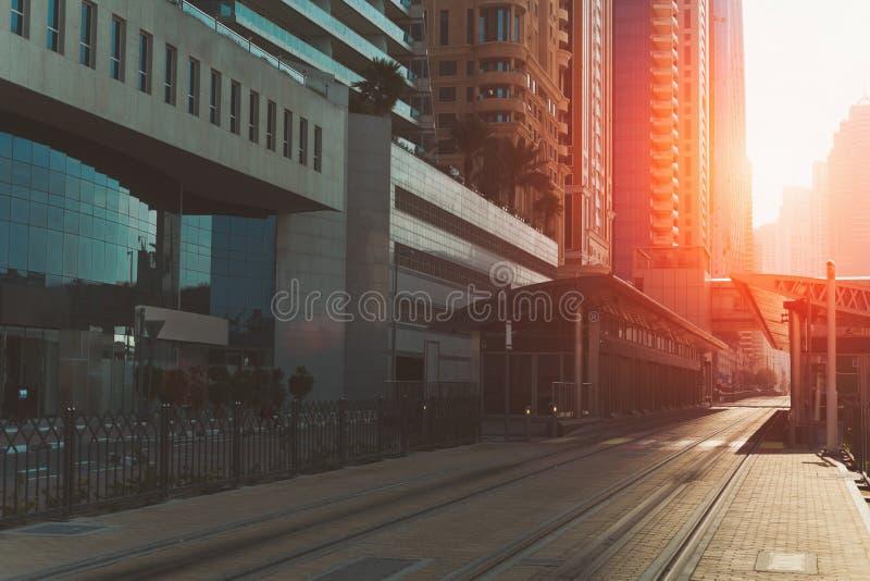 Linii kolejowej stacja, Dubaj obrazy stock