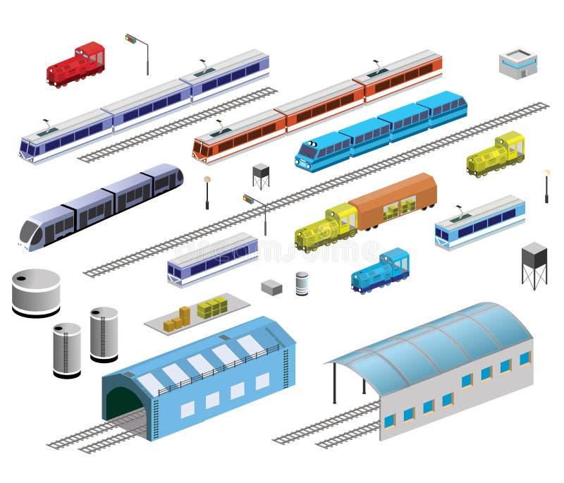 Linii kolejowej wyposażenie royalty ilustracja