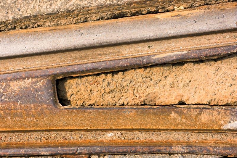 Linii kolejowej zmiana jest na wierzchołka zakończeniu zdjęcie stock