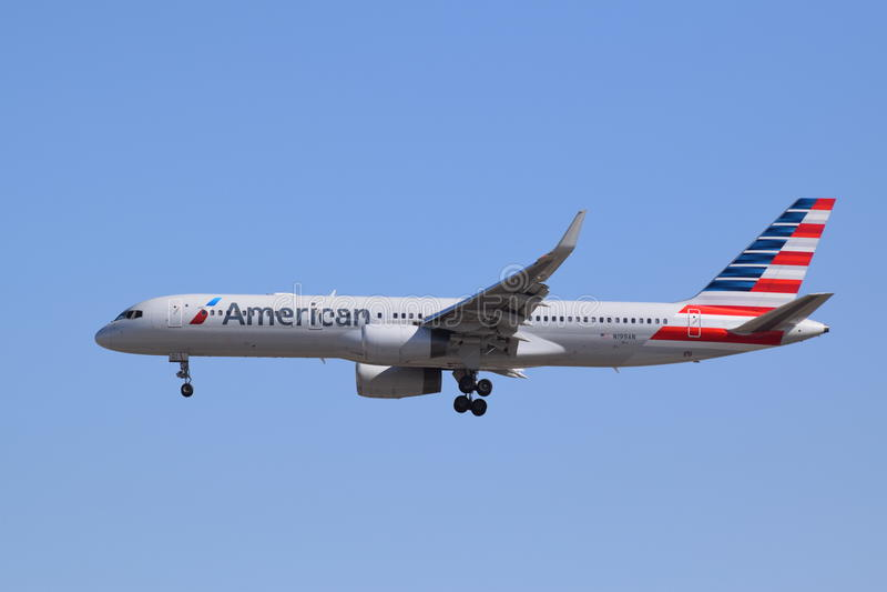757 linii lotniczych amerykanin Boeing fotografia royalty free
