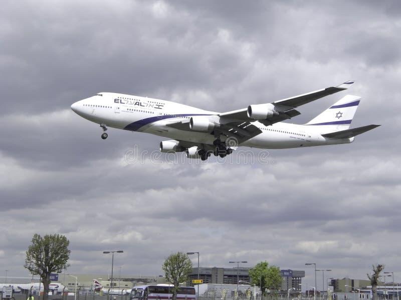 linii lotniczych Israel dżetowy jumbo obrazy royalty free