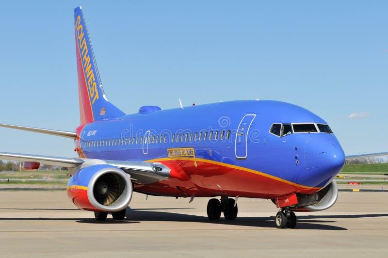 linii lotniczych odjazd przygotowywający południowi zachody zdjęcia stock