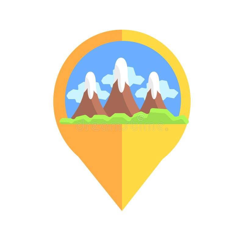 Linii mapy markier Z górami ilustracji