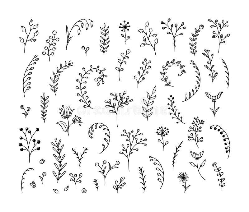 Linijki — zestaw ręcznie narysowanych kropek royalty ilustracja