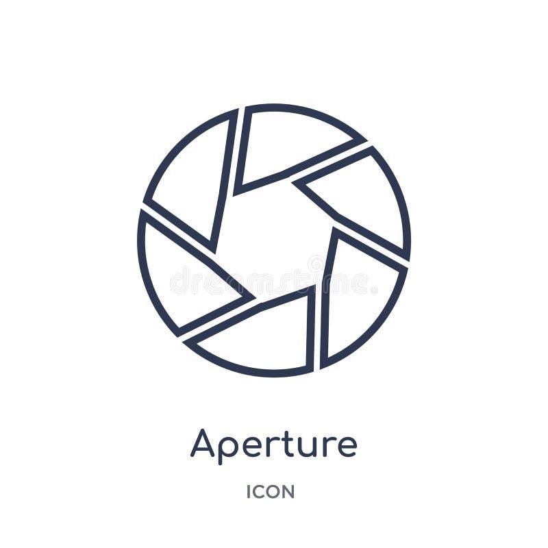 Liniowa apertury ikona od Elektronicznej materiał pełni konturu kolekcji Cienieje kreskowego apertura wektor odizolowywającego na ilustracji