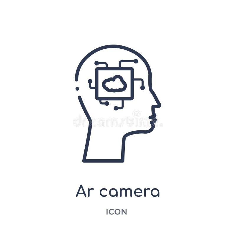 Liniowa ar kamery ikona od Sztucznej intellegence i przyszłości technologii zarysowywa kolekcję Cienieje kreskowego ar kamery wek ilustracja wektor