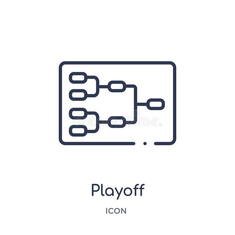 Liniowa baraż ikona od Hokejowej kontur kolekcji Cienieje kreskową baraż ikonę odizolowywającą na białym tle baraż modny ilustracja wektor