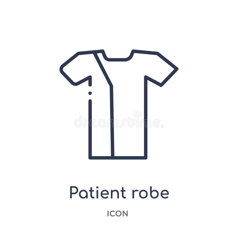 Liniowa cierpliwa kontusz ikona od zdrowie i medycznej kontur kolekcji Cienieje kreskową cierpliwą kontusz ikonę odizolowywającą  royalty ilustracja