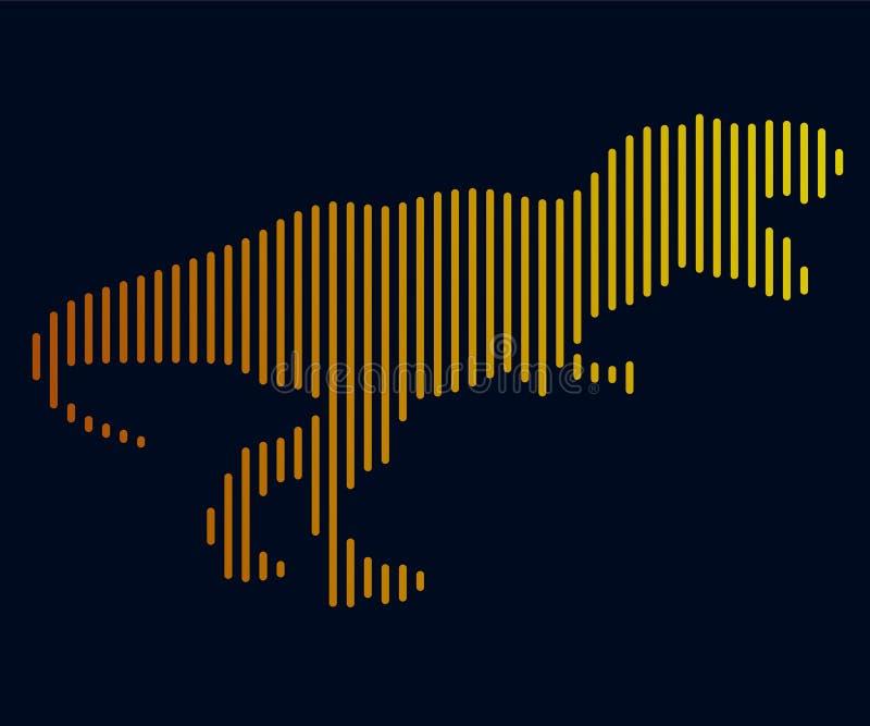 Liniowa ilustracja dinosaur logo fotografia royalty free