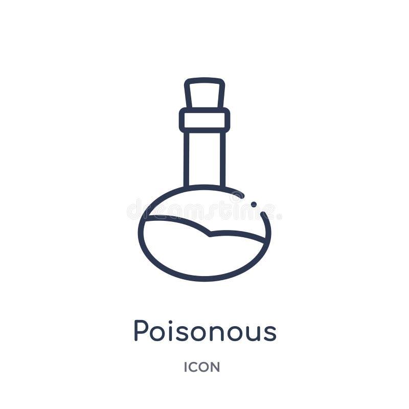 Liniowa jadowita ikona od zdrowie i medycznej kontur kolekcji Cienieje kreskową jadowitą ikonę odizolowywającą na białym tle jado ilustracja wektor