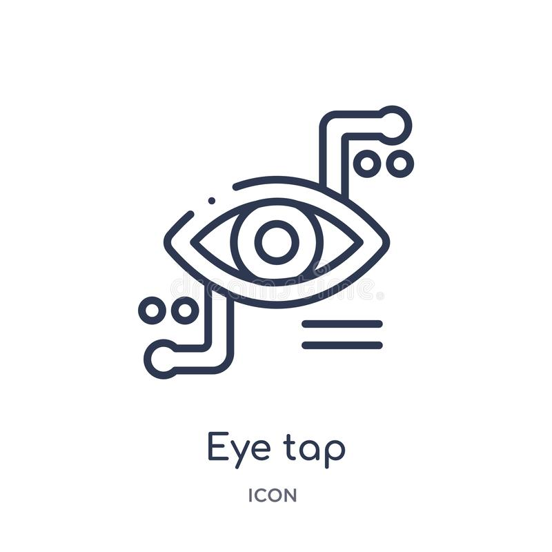 Liniowa oka klepnięcia ikona od Sztucznej inteligencji konturu kolekcji Cienki kreskowy oka klepnięcia wektor odizolowywający na  royalty ilustracja
