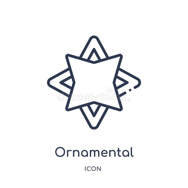 Liniowa ornamentacyjna płodozmienna poligonalna ikona od geometria konturu kolekcji Cienieje kreskową ornamentacyjną płodozmienną ilustracja wektor