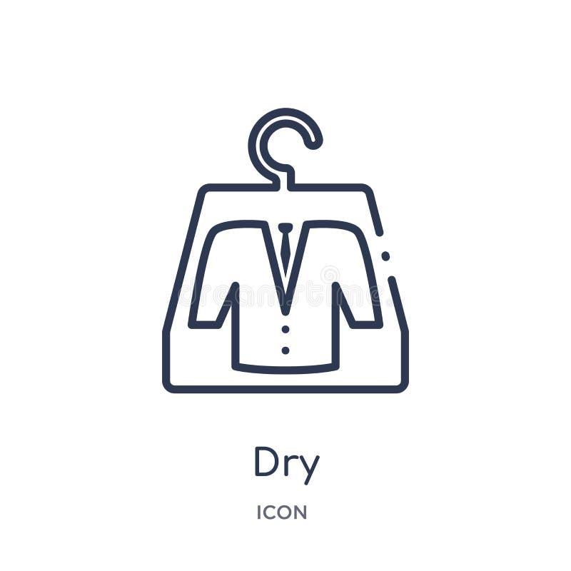 Liniowa sucha ikona od Czyści kontur kolekcji Cienkiej linii suchy wektor odizolowywający na białym tle sucha modna ilustracja royalty ilustracja
