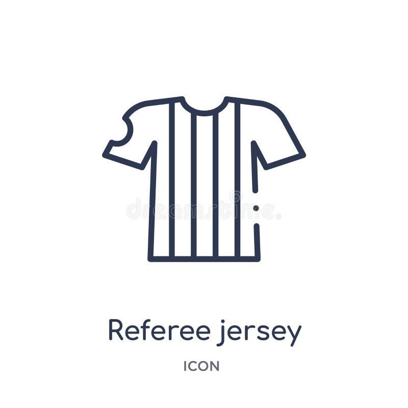 Liniowego arbitra dżersejowa ikona od Futbolowej kontur kolekcji Cienieje kreskowego arbitra dżersejowego wektor odizolowywająceg royalty ilustracja