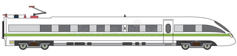 Liniowego szybkościowego pociągu wektoru ekspresowa kolejowa ilustracja royalty ilustracja